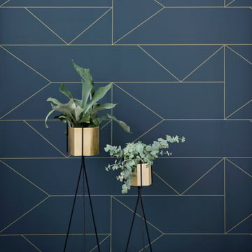 ferm living plant stand mit Hexagon Vase