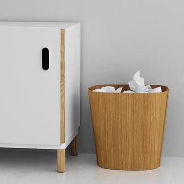 Eleganter Papierkorb aus Holz