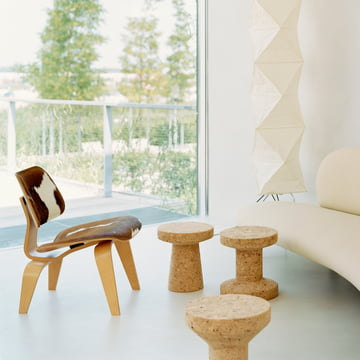 Vitra - Hocker - Cork Family - Plywood Stuhl