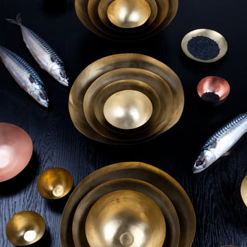 Form Bowl von Tom Dixon aus Messing