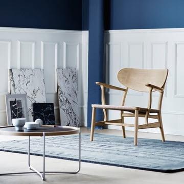 Carl Hansen - CH22, Eiche geseift / Table Tray