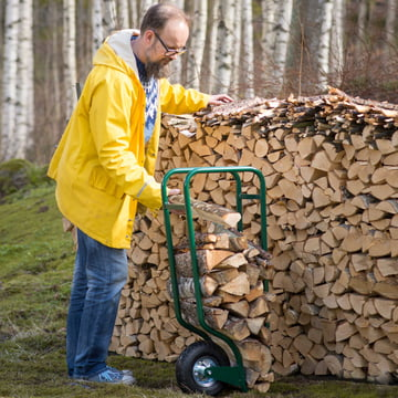 Brennholzwagen aus Metall