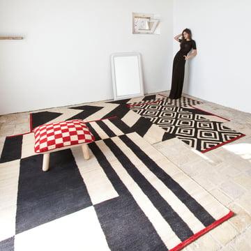 Mélange Teppiche und Pouf von nanimarquina