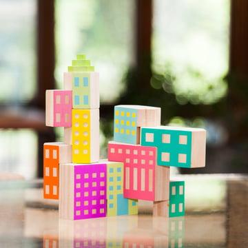 Areaware - Blockitecture, Spielzeug Holz-Architektur, Fabrik