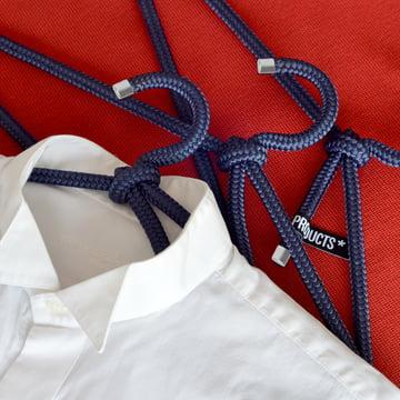 Peppermint Products - Loop Hanger Kleiderbügel, 3er-Set, blau