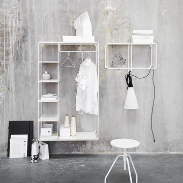 Korridor - AnyWhere 1x2 Wandregal mit Garderobe