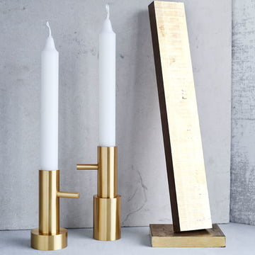 Kerzenständer Single von Fritz Hansen in Messing