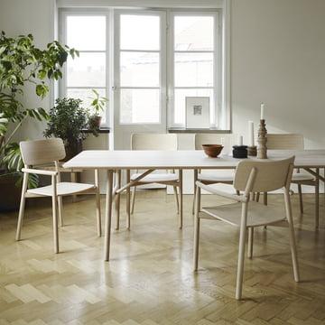 Hven Esstisch und Armlehnstuhl