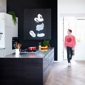 Micky Maus von IXXI in Schwarz-Weiß