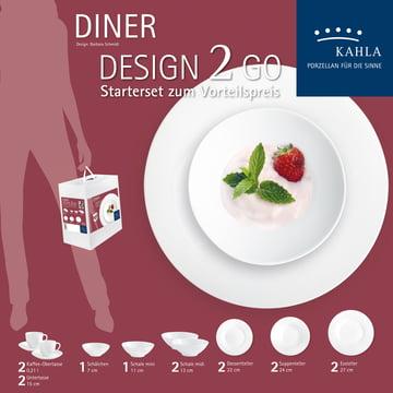 Geschirr-Set Diner To Go (14 tlg.) von Kahla