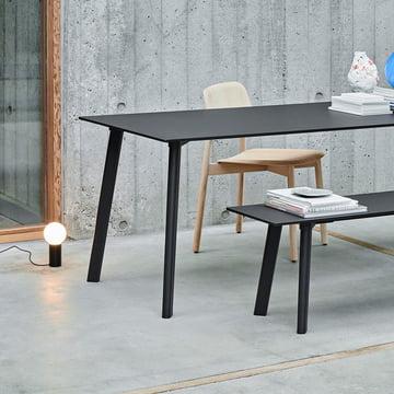 Der Hay - Copenhague CPH Deux 210 Esstisch 140 x 75 cm in schwarz
