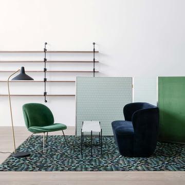 Beetle Lounge Chair von Gubi im Wohnzimmer