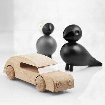 Singvogel Rabe und Automobil Sedan von Kay Bojesen