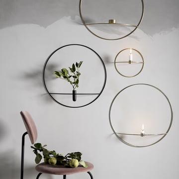 Pov Circle Kerzenhalter, Vase und Teelichthalter von Menu