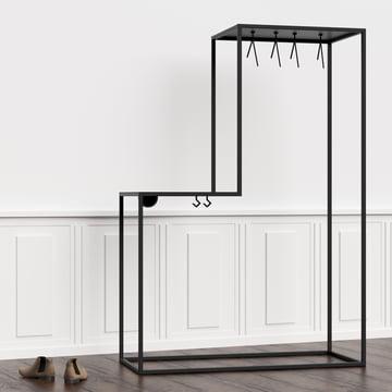 Die Nichba Design - Stand01 Garderobe im Flur platziert