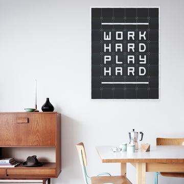 Quotes von IXXI: Work hard play hard