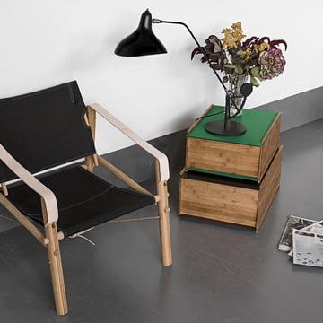 Die We Do Wood - Chest 1-2 Aufbewahrungskisten mit Leuchte und Stuhl