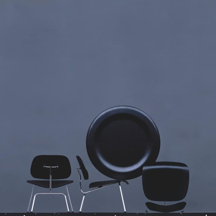 Die Plywood Group von Vitra mit Stuhl und Tisch