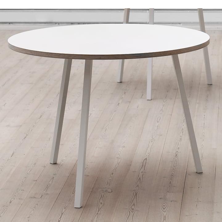 Hay - Loop Stand Round Table, weiß