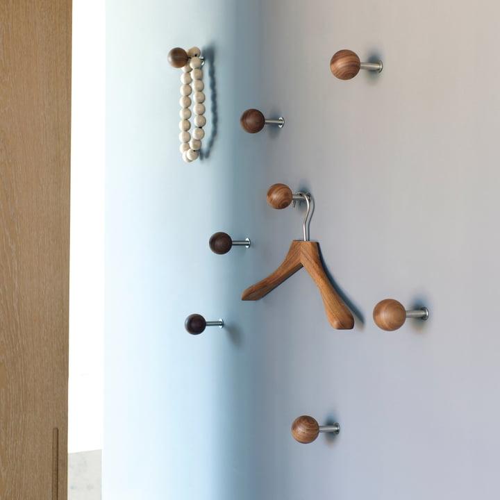 Die Schönbuch - Dots Wandhaken in Naturholz als Garderobe