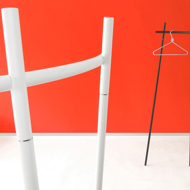Radius Design - Garderobe Radius 1, weiß und schwarz