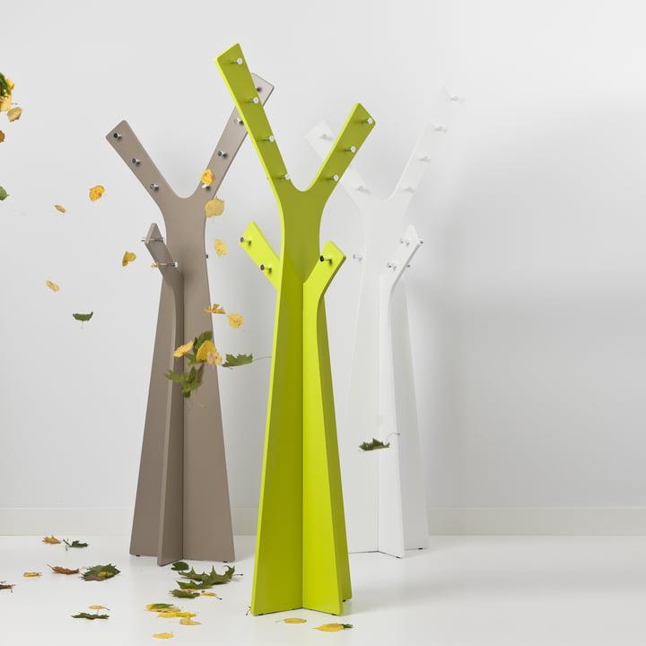 Cascando - Tree Standgardrobe, alle Farben - mit fallendem Laub