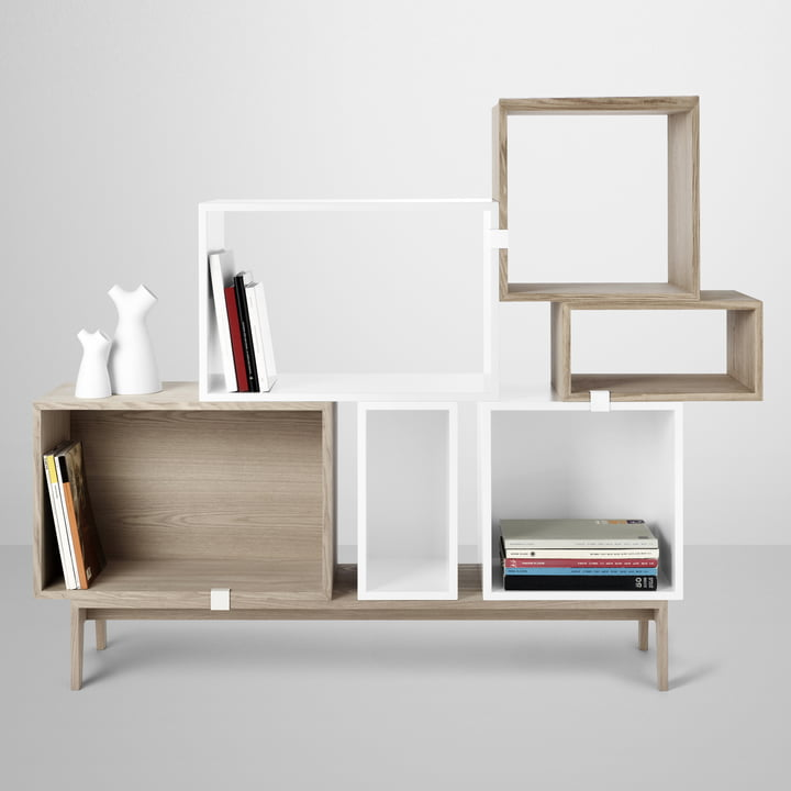 stacked regalsystem wei muuto. Black Bedroom Furniture Sets. Home Design Ideas