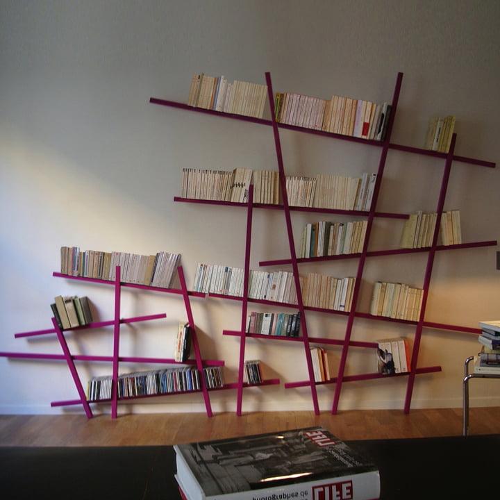 Edition Compagnie - Mikado Bücherregal, groß, klein, pink