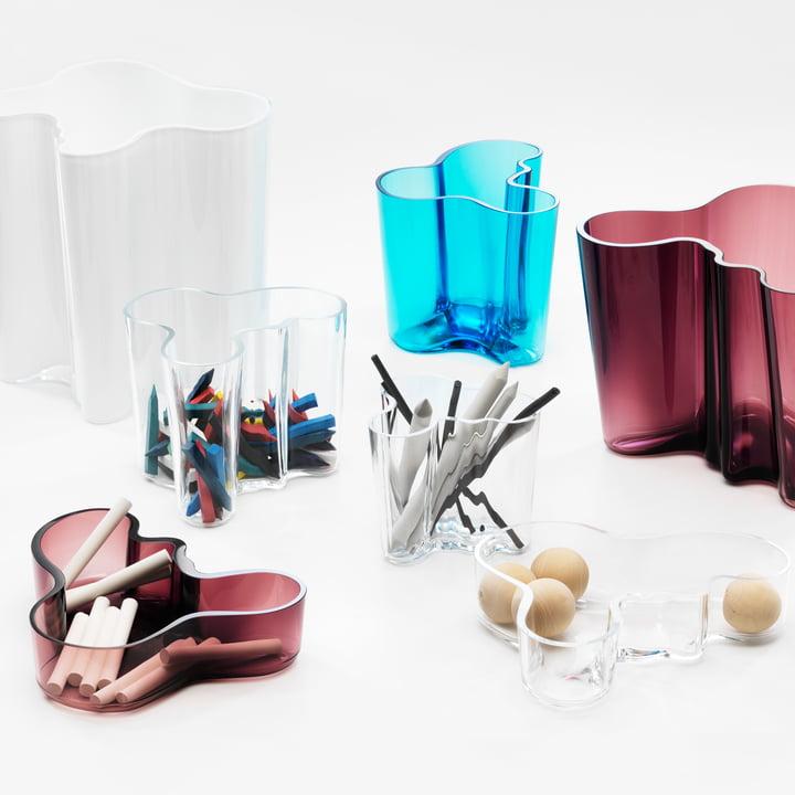 Iittala - Aalto Gruppe / Glasvasen und Schalen