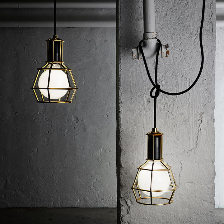 Design House Stockholm - Work Lamp, gold - leuchtend