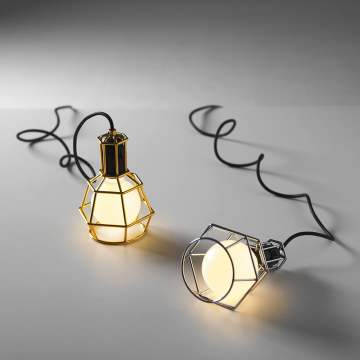 Design House Stockholm - Work Lamp, silber, gold - leuchtend