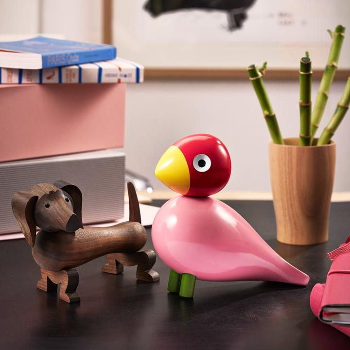 Singvogel und Holz-Hund von Kay Bojesen
