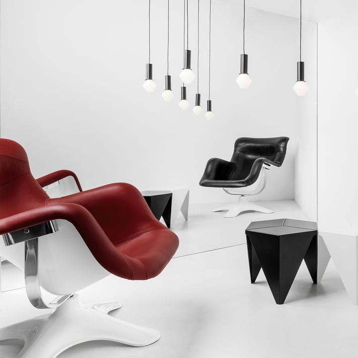 Artek - Karuselli Lounge Chair, rot / weiß