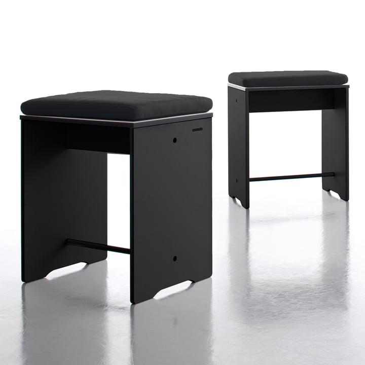 Conmoto - Riva Hocker / Beistelltisch, schwarz