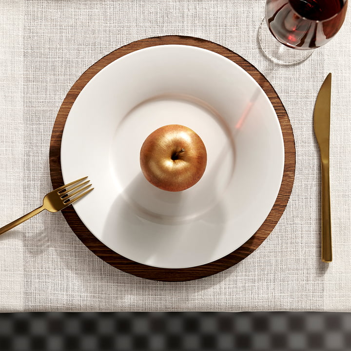Kahla - Magic Grip Tafelservice, weiß, bronzefarbener Apfel