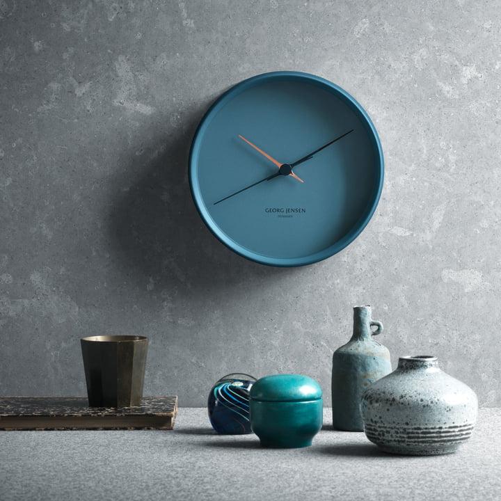 Georg Jensen - Henning Koppel Wanduhr Graphic blau, Ambiente