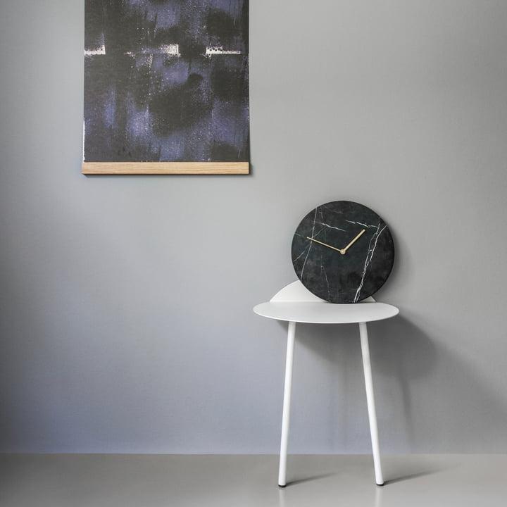 Menu - Mellem Rahmen, Marble Wanduhr