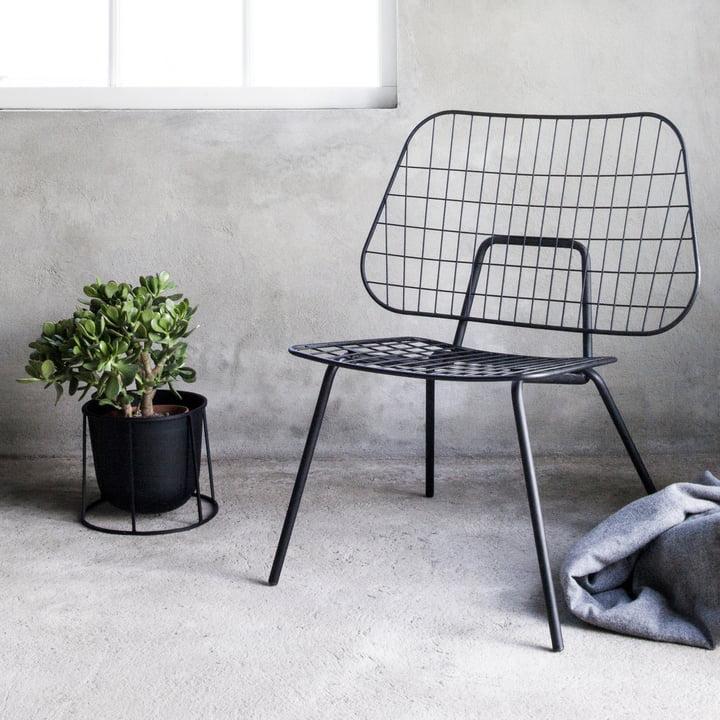 WM String Lounge Chair und Wire Pot von Menu