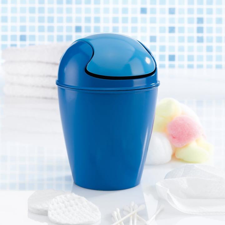 Koziol - DEL Schwingdeckeleimer, XXS, blau