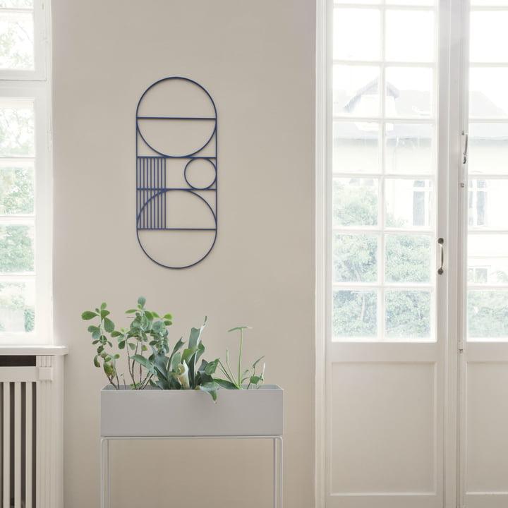 Outline Wanddekoration mit Plant Box von ferm Living