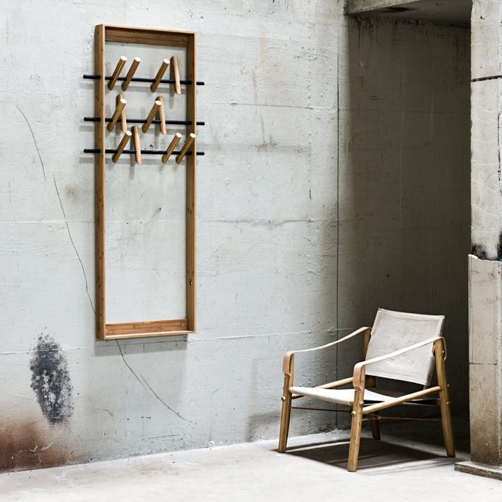 Garderobenmöbel aus Bambusholz