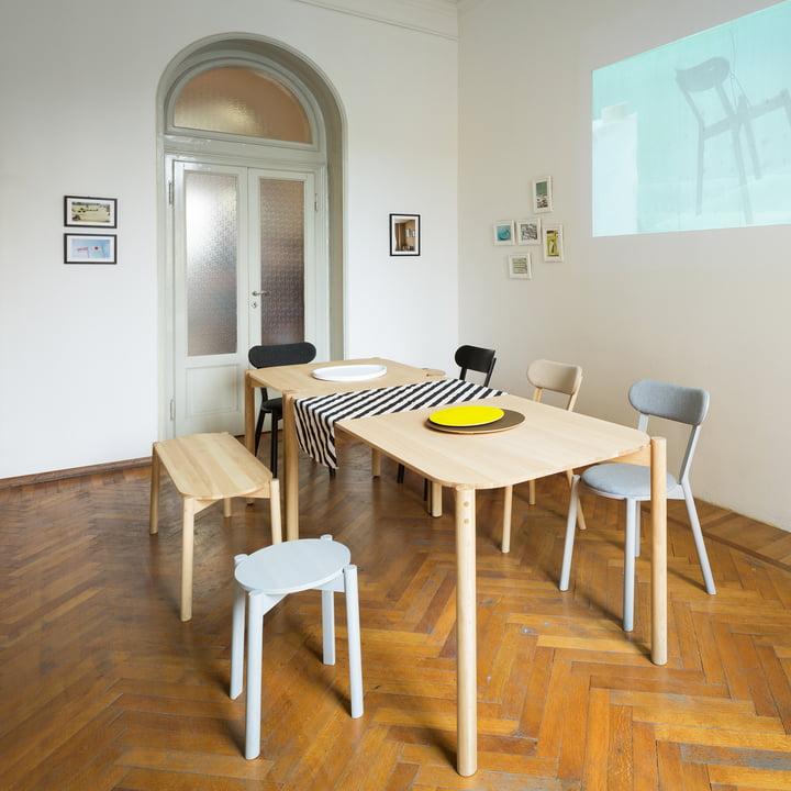 Castor Table, Chair und Dining Bench von Karimoku New Standard
