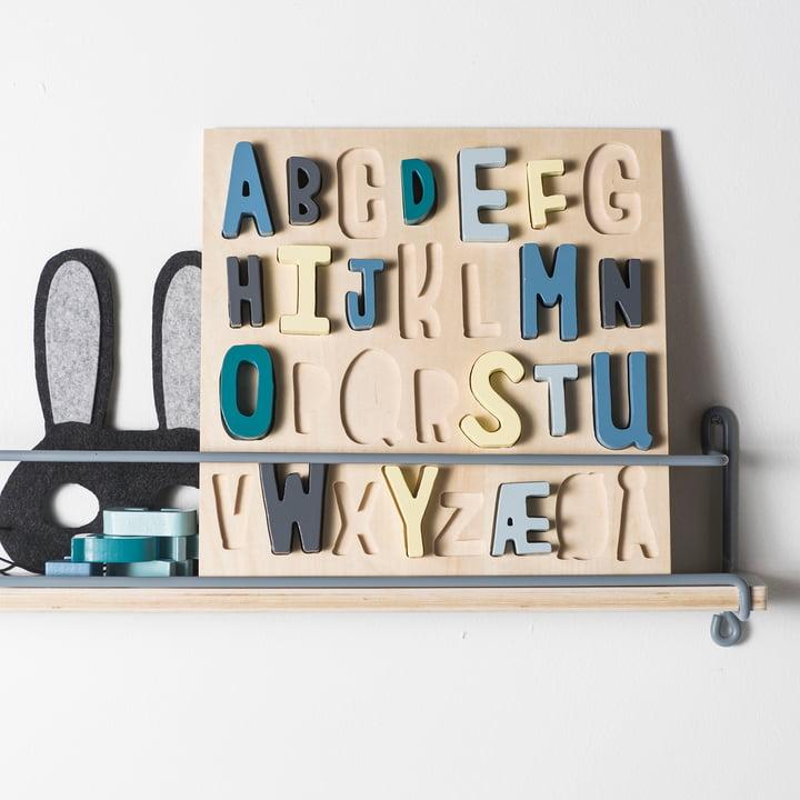 Hölzernes Puzzle ABC von Sebra