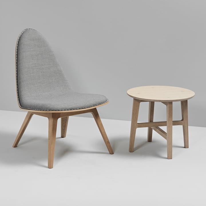 Nordic Beistelltisch und Nordic Lounge Chair