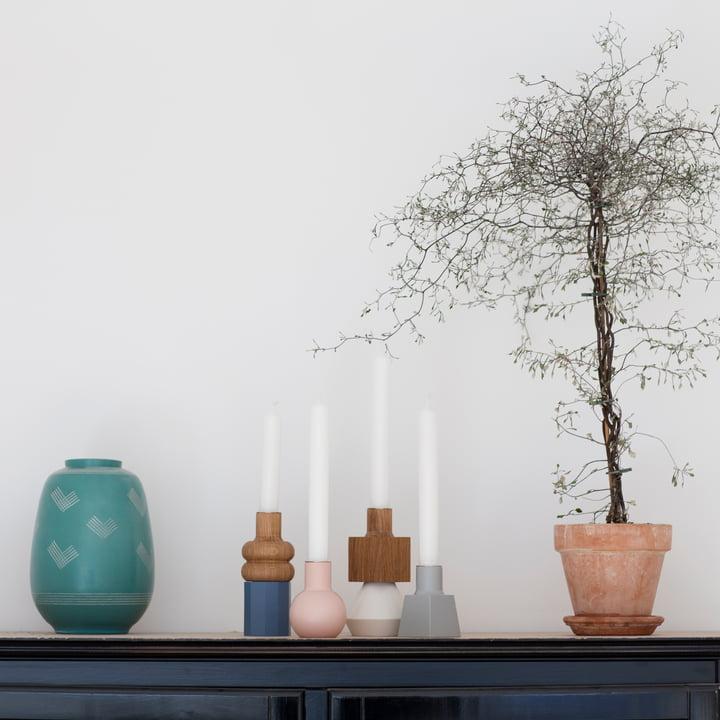 Spring Copenhagen - Wood Lights Kerzenständer