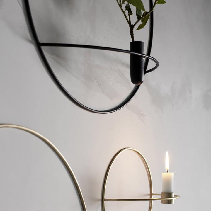 Der Pov Circle Kerzenhalter und die Vase von Menu