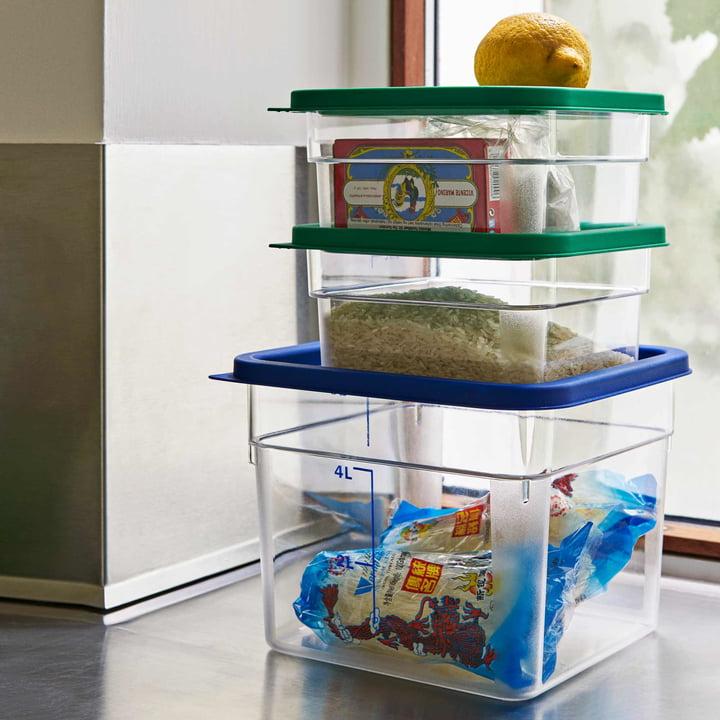 aufbewahrungsdose mit farbigem deckel von hay. Black Bedroom Furniture Sets. Home Design Ideas