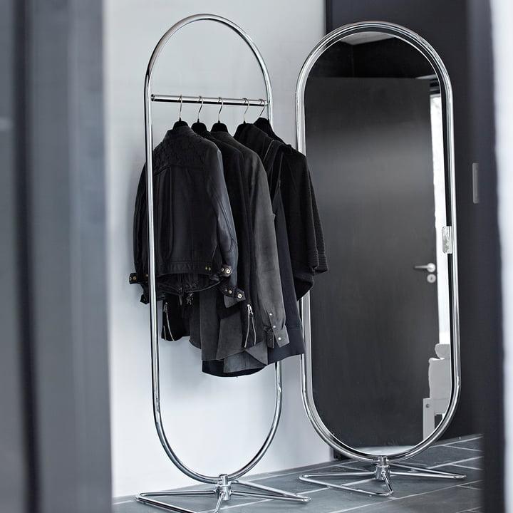 Verpan - System 1-2-3 Spiegel und Garderobenständer
