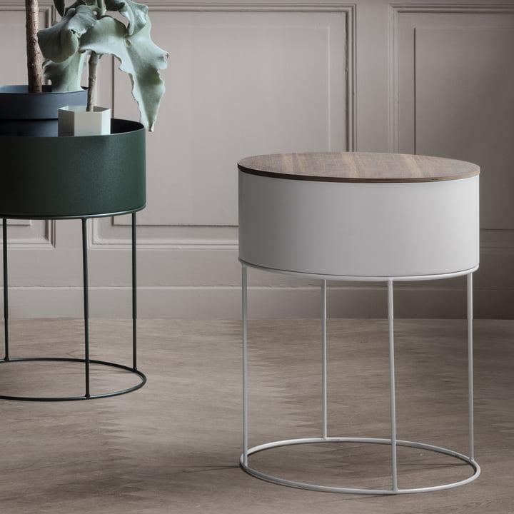 plant box rund von ferm living. Black Bedroom Furniture Sets. Home Design Ideas