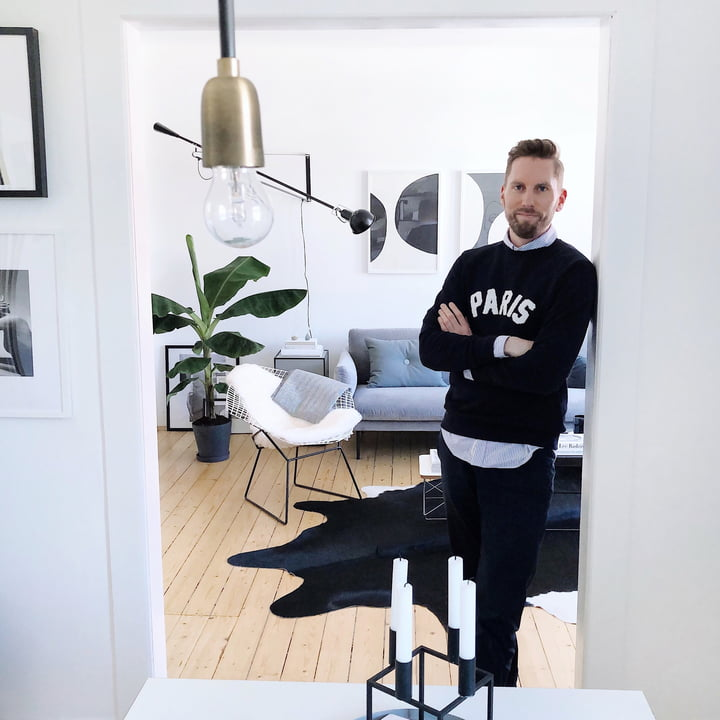 Homestory: Skandinavisch wohnen in Schwarz-Weiß